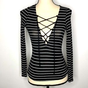 Urban Outfitters Striped Long Sleeve T-Shirt